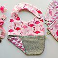 Kit naissance bébé fille flamants roses
