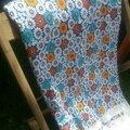 Coupon tissu fleurettes bleues 60'