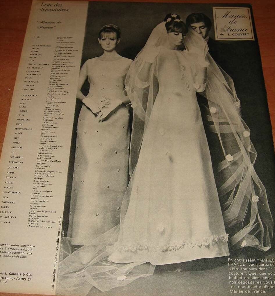 mariees de france 1967