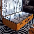 Valise table ouverte