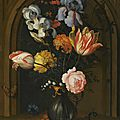 Balthasar van der ast (middelburg 1593/94 - 1657 delft), still life of irises, columbines, tulips, roses and lily of the valley