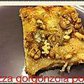 Pizza gorgonzola,poire,noix