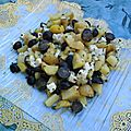 Salade de pommes de terre au raisin muscat et