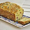 Cake aux petits pois et sa crème *