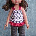 Un mini dortje pour sarah, pantalon d'inspiration farbenmix (poupée de 32-35 cm)