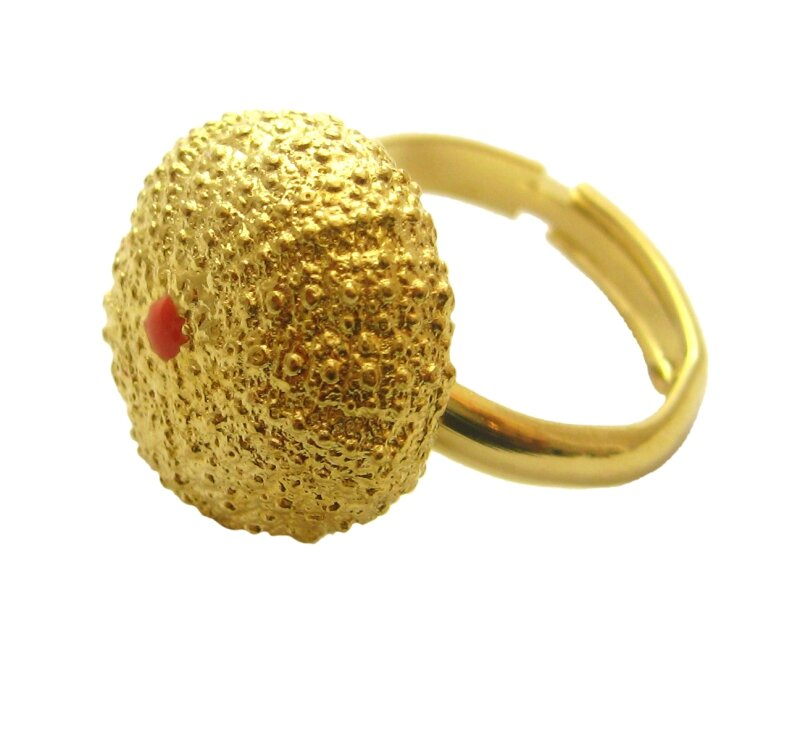 bague oursin or