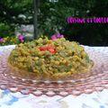 Curry d'aubergines aux lentilles roses