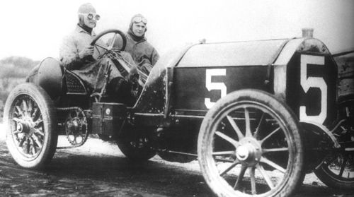 1905 vanderbilt cup american elimination - joe tracy (locomobile 90hp) 2nd