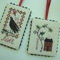 Petites pendeloques modèles Blackbird Designs (réalisation d'Aline)