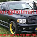 DODGE RAM, tuning <b>films</b>, sticker pour <b>voiture</b> covering Total covering <b>noir</b> <b>mat</b>, peinture covering <b>noir</b> <b>mat</b>, covering jantes noi