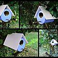 Boîte de lait = nichoir à oiseaux