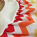 Robe Burda chevrons multicolores5