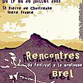 concours affiche Rencontres Brel