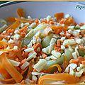Salade croquante et fondante : poireaux, carottes et courgettes