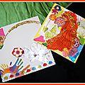 Atelier Carterie enfant - Carte et enveloppe papiers récupération Sybélia Salon Loisirs Créatifs Saint-Chamas 6-7 avril 2013 - Création Recyclage papiers