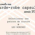 #je couds ma garde-robe capsule 2017 - 2 - mes projets
