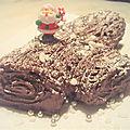 ...Yule log ou bûche de Noël au <b>chocolat</b> sans gluten... (Nigela Christmas)