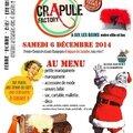 La Dingue vente de Noël de CrApule FActOry à Aix les bains le Samedi <b>6</b> <b>décembre</b> <b>2014</b>