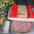 Gratin de courgette, chèvre et jambon