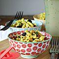 Salade de pâtes au curcuma