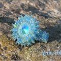 Crystal burst aquamarine glacier blue