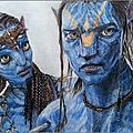 <b>AVATAR</b>. Neytiri & Jake Sully.