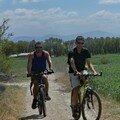 Dali, promenade a velo avec Arno et Celine, pres du lac Erhai