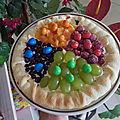 Tarte sablée croquante multicolore aux fruits et M&M'S, Bataille Food #70