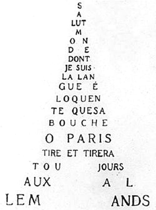 Guillaume Apollinaire, Calligramme