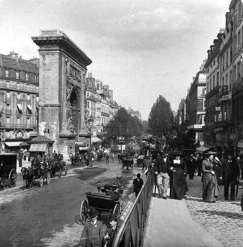 Porte saint-Denis, Paris (1900)