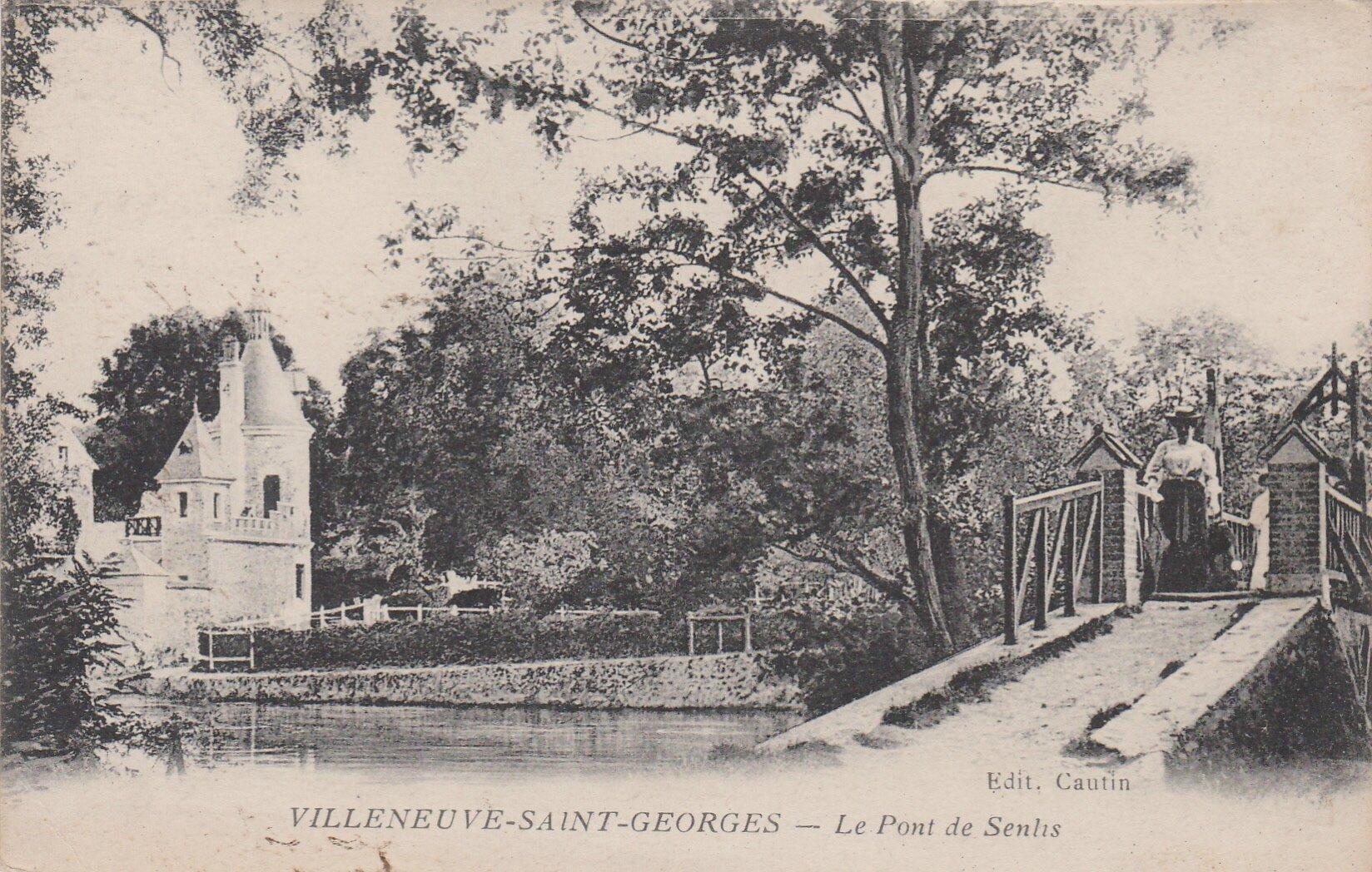 VILLENEUVE-SAINT-GEORGES - Le pont de Senlis 1919