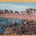 Le Croisic - plage de Port Lin datée 1968