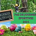 Pas de journées <b>sportives</b> en Avril 2021