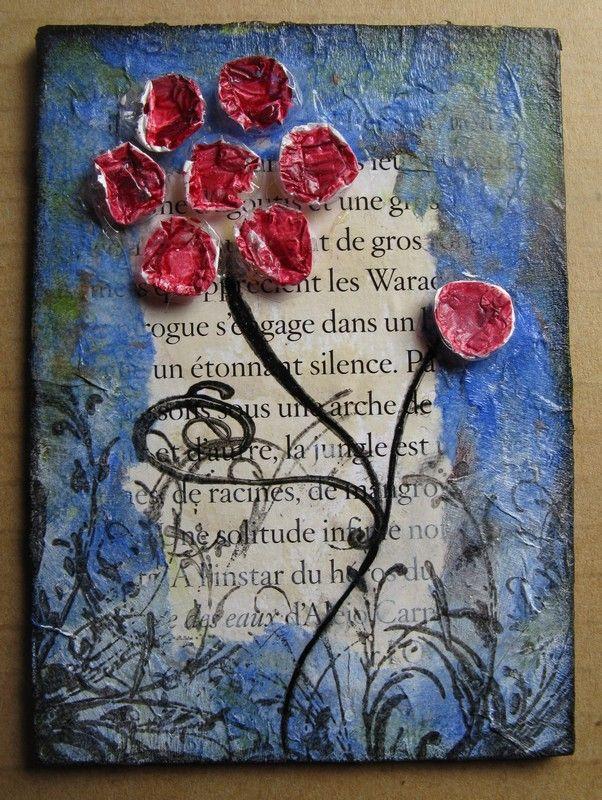 bulles fleur rouge