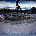 Rond-point à <b>Akureyri</b> (Islande)