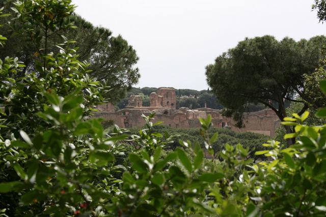 Le palatino depuis la villa Celimontana