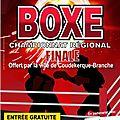 CHAMPIONNAR REGIONAL DE <b>BOXE</b> A COUDEKERQUE BRANCHE LE 15 DECEMBRE 2012