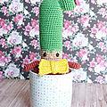 Monsieur Pikan le cactus au crochet - My Sweet Home par Caro <b>Tricote</b>