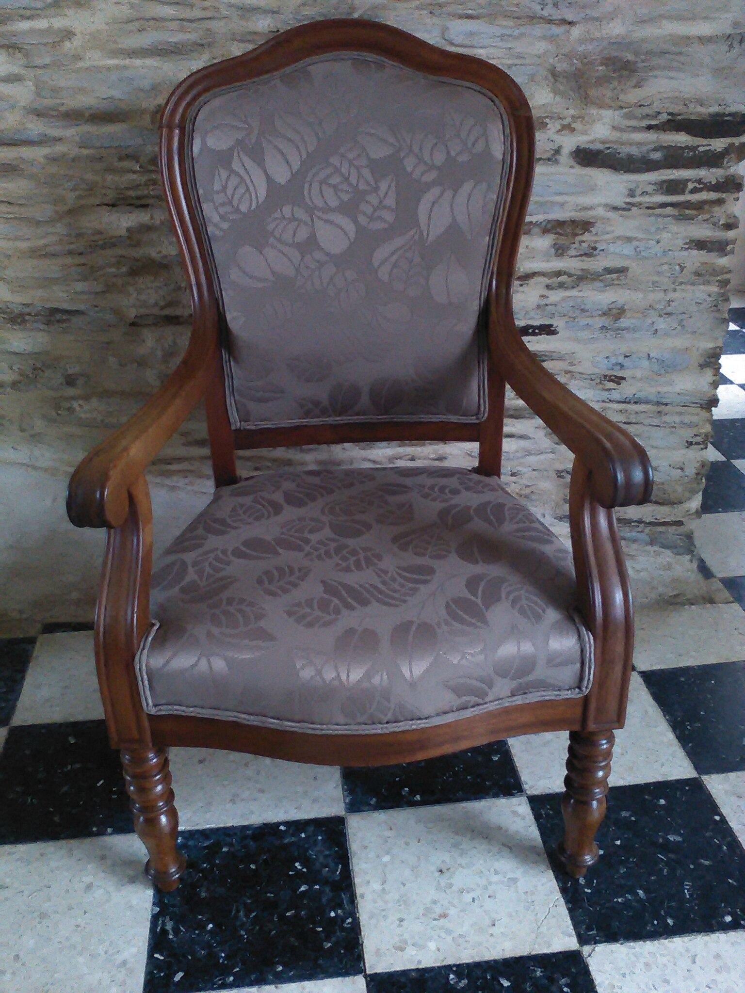 fauteuil style feuilles
