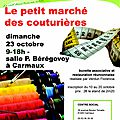 Petit marché des couturières à carmaux le 23 octobre 2016
