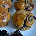 Muffins chèvre et mûres