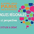 DIAGNOSTIC: Les langues régionales de France sont en grave danger... (journée d'étude du Sénat, Paris le 8 avril 2019)