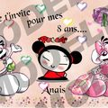 invitation anais fille modele