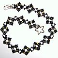 Collier chainette cristal de bohème et perles de