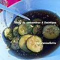 Salade de concombres à l'asiatique