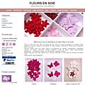 La nouvelle boutique fleurs en soie est en ligne
