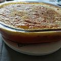 Hachis parmentier de carottes et de pommes de terre au boeuf