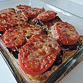 Aubergines tomates mozza