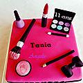 Gâteau Maquillage - Make up cake