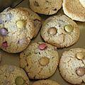 Cookies revisités aux mini smarties
